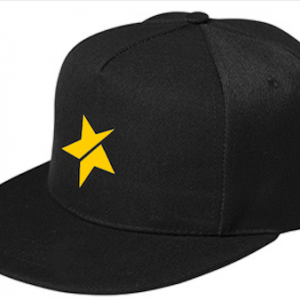 rap cap black