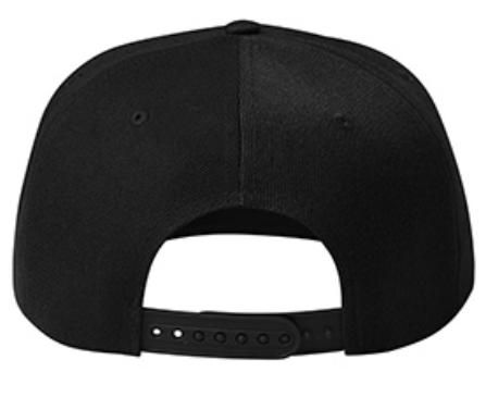 rap cap black back