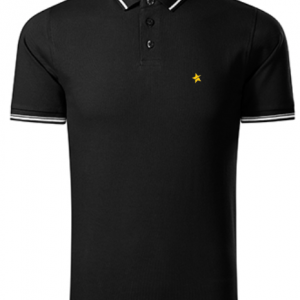 men polo shirt black