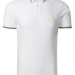 men polo shirt white