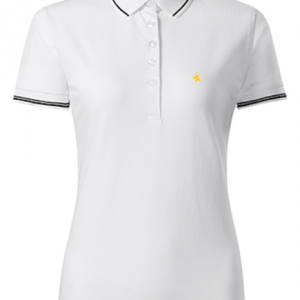 women polo shirt white