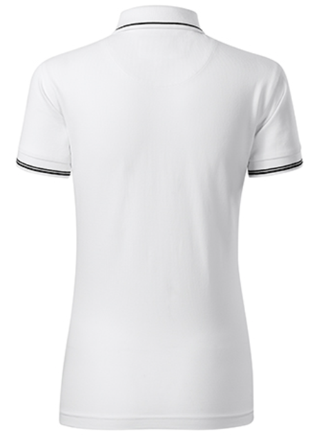 women polo shirt white back